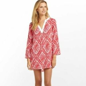 Lilly Pulitzer Red Coral Ripley Tunic Blouse